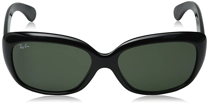 d670d2c01cb98 Ray-Ban Women s Polarized 195 RB4101-601 58-58 Black Cat Eye Sunglasses  Ray -Ban  Amazon.co.uk  Clothing
