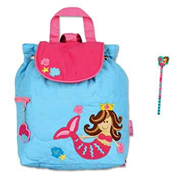 b02e2da58f Stephen Joseph Quilted Mermaid Backpack and Pencil - Toddler - Preschool  Backpacks  Amazon.co.uk  Sports   Outdoors