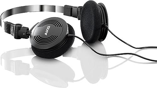 AKG K403 Semi Open Foldable Mini On-Ear Headphone Black