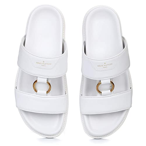 eb8adb5d31a4 Louis Vuitton Man Shoes Flip-Flops Sandals Leather Black 100% Authentic US  11 (EU 44)   US 11