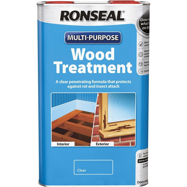Ronseal RSLWT5L 5 Litre Multi-Purpose Wood Treatment - Natural