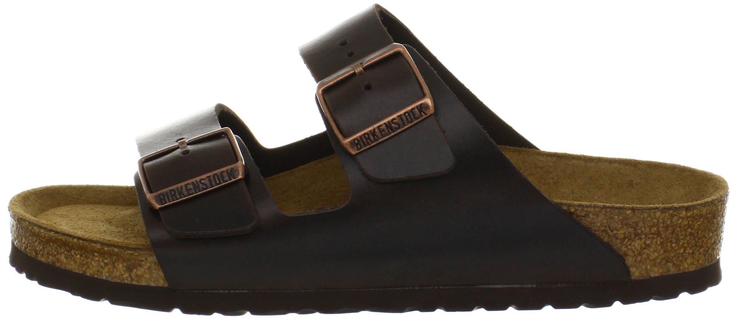 Birkenstock Unisex Arizona Brown Amalfi Leather Sandals - 39 M EU / 8-8.5 B(M) US by Birkenstock (Image #5)