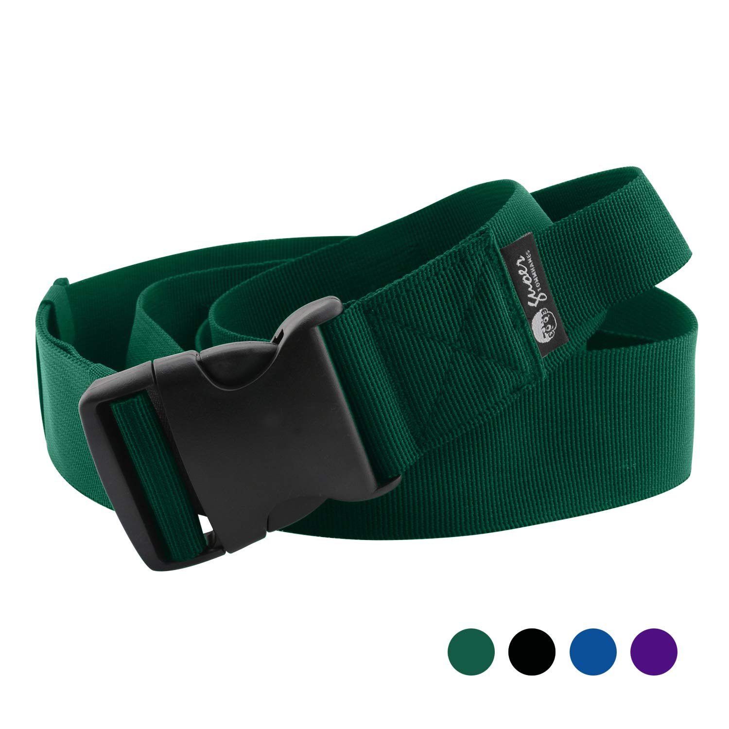 GUOER Walking Gait Belts With Handles Transfer Belt 25''-70'' Multiple Colors (32''-70'', GREEN) by GUOER