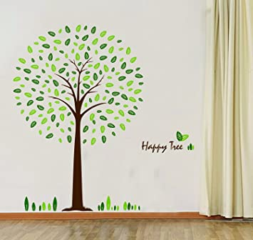 HunntR Happy Tree Wall Sticker Decal Ideal For Kids Room Baby Nursery Living