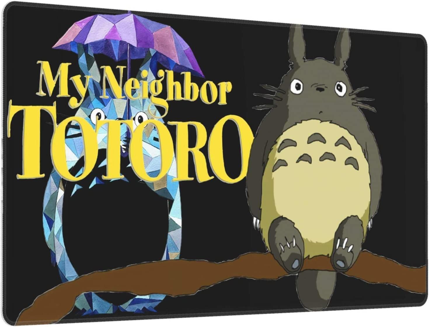 Animemy Neighbor Totoro 3D Printed Large Mouse Desk Accessories Home Office Games Laptop Desk Mat Mouse 40x75x0.3cm