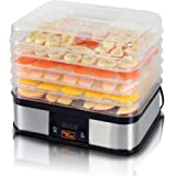 SuperHandy Food Dehydrator Electric Preserver Machine 5 Tray Layer BPA Free Digital Timer 1-48h Temperature Range 104F (40C)