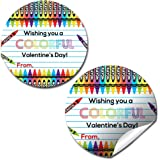 You/'re Just Plane Fun Airplane Valentine Party Favor Sticker Labels for Boys Envelope Seals Great for Classroom Valentines Gifts /& Treats 40 2 Party Circle Stickers by AmandaCreation