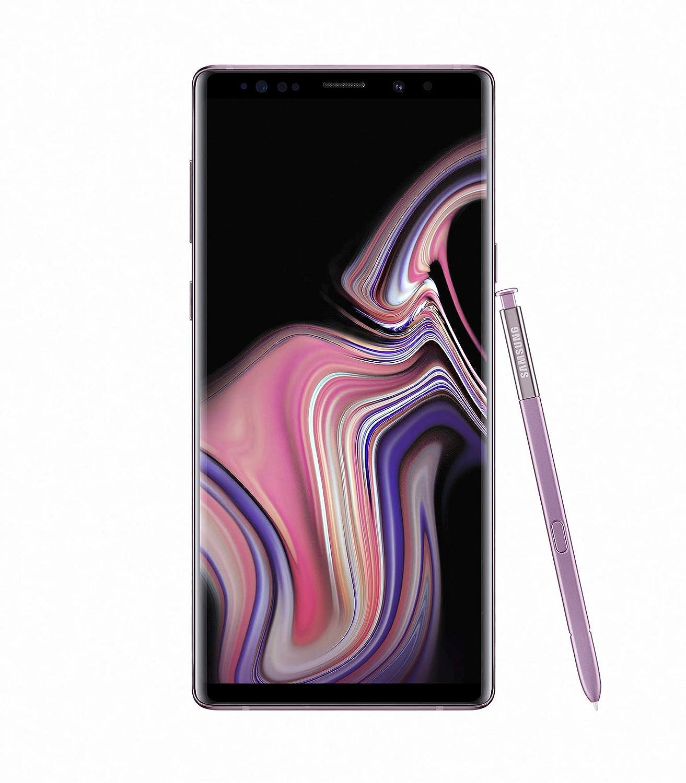 Samsung Galaxy Note 9 SM-N960F/DS 8GB / 512GB 6.4-inches LTE Dual SIM (GSM ONLY,) Factory Unlocked No Warranty - Lavender Purple