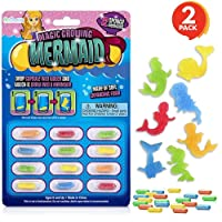 ArtCreativity Magic Growing Mermaid Capsules, Grow in Water, 2 Packs with 12 Expanding Mermaid Capsules Each, Cute Color Variety, Kids' Birthday Party Favors, Contest Prize or Gift Idea