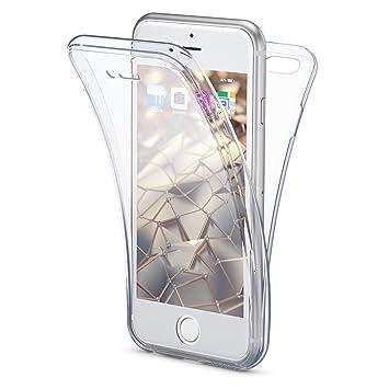 NALIA Funda 360 Grados Compatible con iPhone 8/7, Delantera Trasera Protectora Movil Silicona Carcasa, Ultra-Fina Gel Transparente Doble Cubierta Goma ...