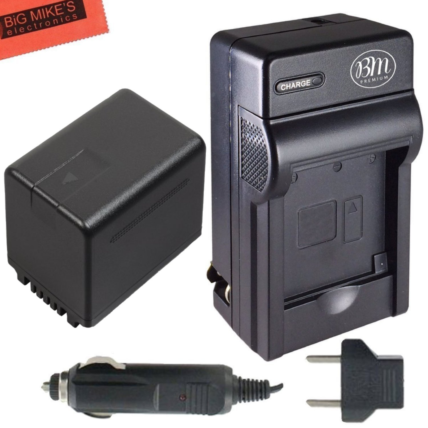 BM Premium VW-VBT380 Battery and Battery Charger for Panasonic Camcorders Big Mike' s VWVBT380