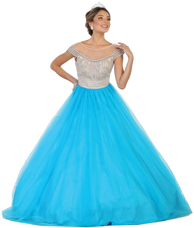 Turquoise Layla K Formal Dress Shops Inc FDS87 Sweet 16 15 Cinderella Ball Dress