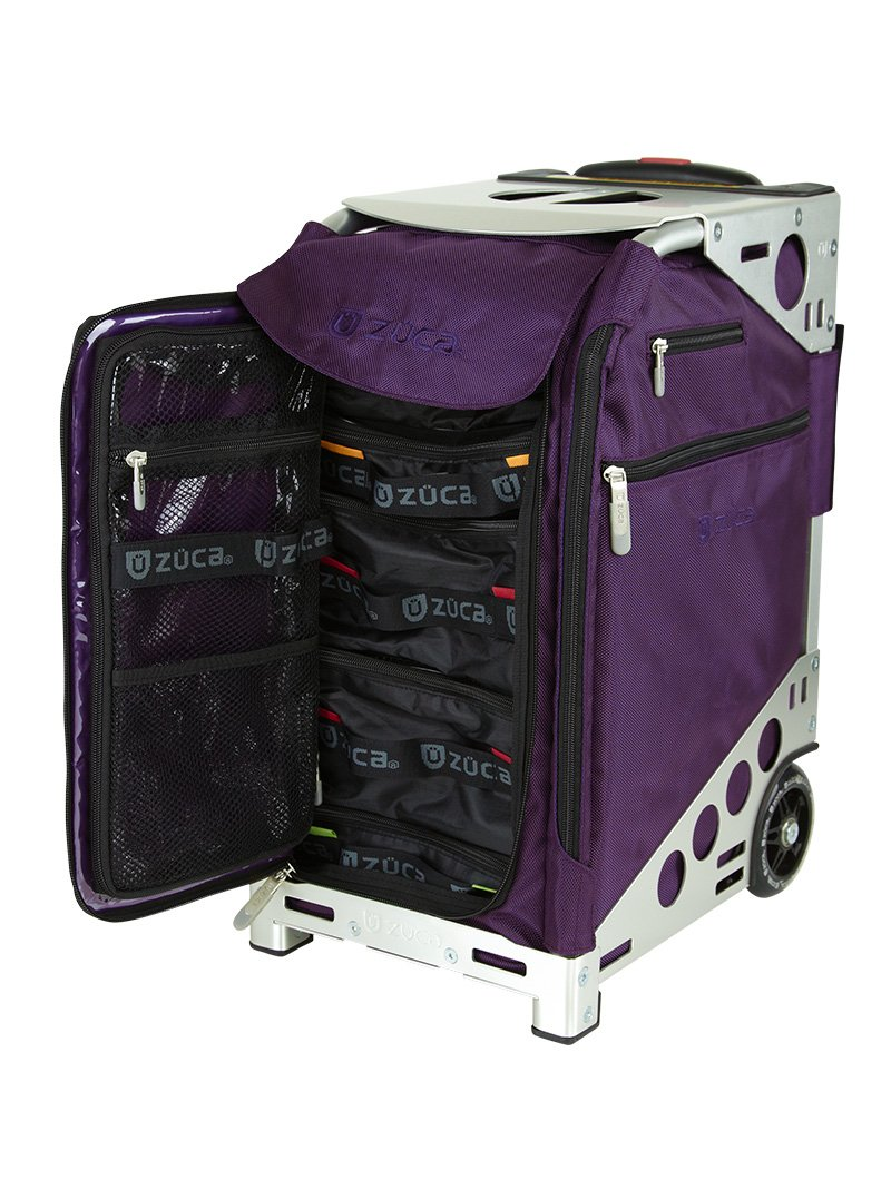 Zuca Pro Travel - Royal Purple Insert with Silver Frame (includes Pro packing pouch set and a travel cover)