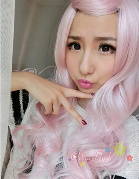 Amazon.com: B-G Womens Full Wig Long Curly Hair Heat Resistant Wigs Harajuku Style Hair Wigs Costume Wigs for Cosplay/Party WIG008: Beauty