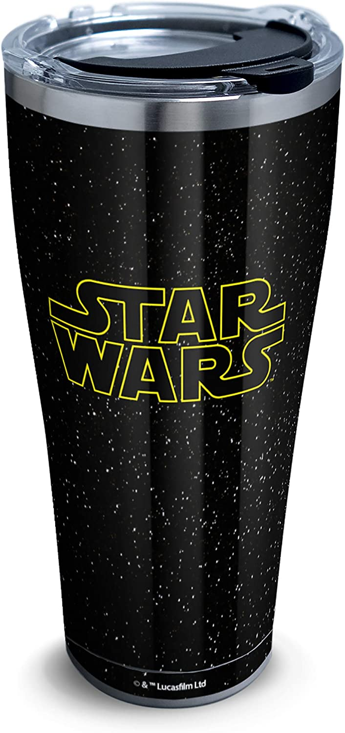 Tervis Star Wars Classic 18/8 Stainless Steel Insulated Travel Tumbler & Lid, 30 oz, Silver