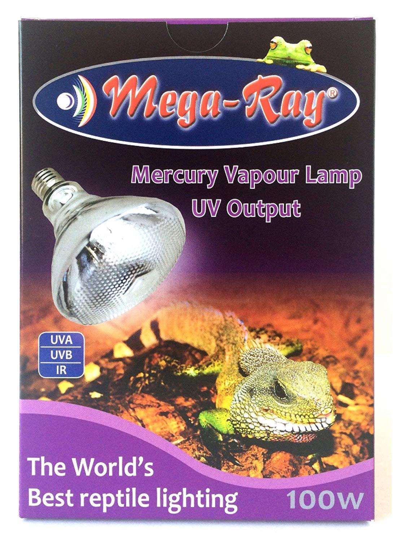 Mega-Ray Mercury Vapor Bulb - 100 Watts (120V) by Mega-Ray Pet Care