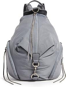 Rebecca Minkoff Women's Nylon Julian Backpack, Grey, One Size