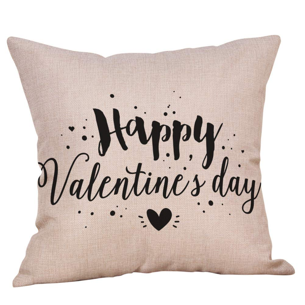 iZHH Home Decor Valentine's Day Throw Pillow Case Sweet Love Cushion Cover