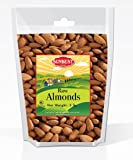 SUNBEST Whole Raw Almonds (Whole, Raw, Shelled, Unsalted) in Resealable Bag (3 Lb)