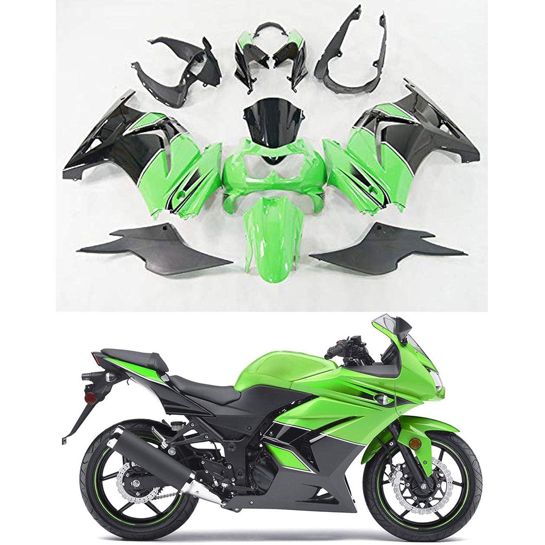 Amazon.com: Moto Onfire Green Plastic Kit Fairings for ...