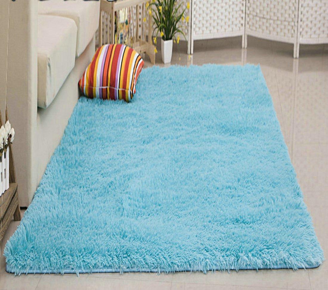 Kong EU Large Soft Anti-skid Carpet Floor Mat Shaggy Rug Living Room Bedroom Decor Thick White 60 160cm