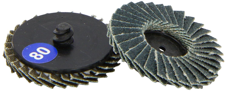 Connect 32114 - Discos de hojas de bloqueo rá pido para lijadora (P80 x 50 mm, 5 unidades) The Tool Connection Ltd.