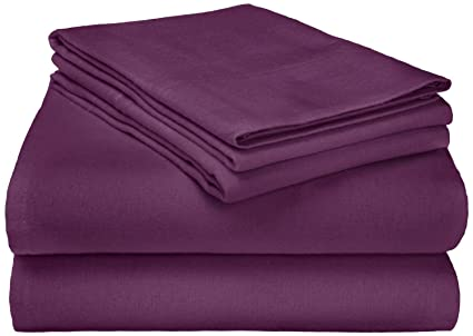 Superior Premium Cotton Flannel Sheets, All Season 100% Brushed Cotton Flannel  Bedding, 4