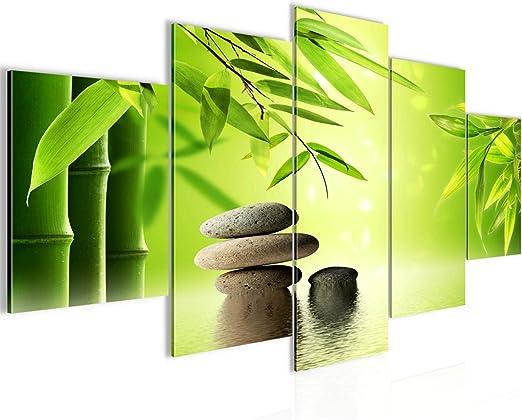 Zen Stones Feng Shui 3 Bilder auf Leinwand Bild Wandbild Poster Kunstdruck