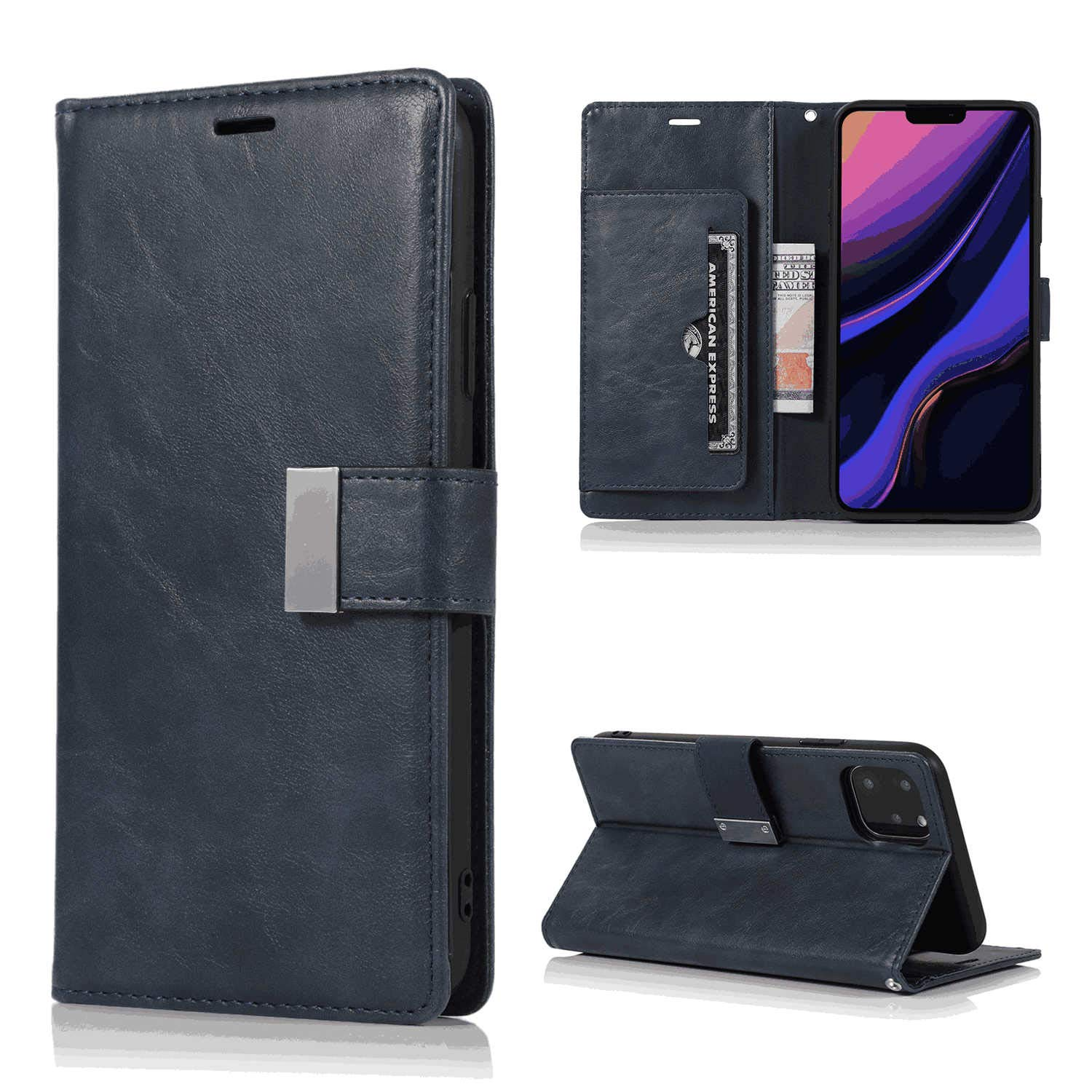Brown Leather Flip Case Wallet for Samsung Galaxy S10 Plus Stylish Cover Compatible with Samsung Galaxy S10 Plus