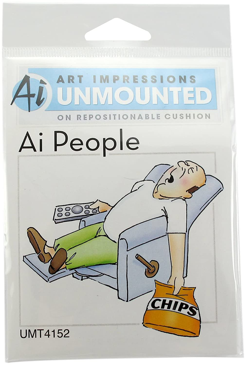 Art Impressions Lazy Boy Rubber Stamp by Art Impressions T4152