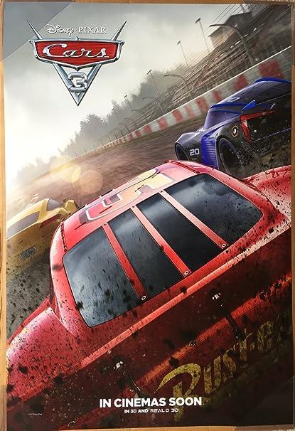 Amazon Com Cars 3 Movie Poster 2 Sided Original Intl Advance