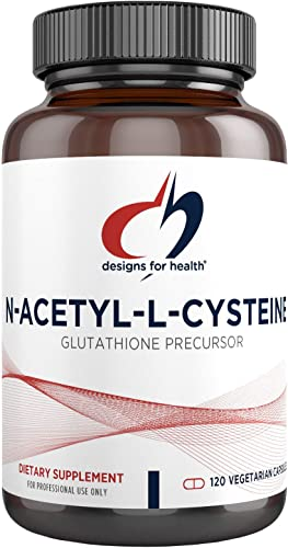 Designs for Health N-Acetyl-L-Cysteine – 900mg NAC Supplement 120 Capsules