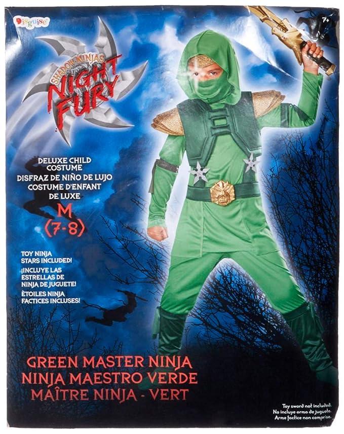 Toy Zany Verde Master Deluxe disfraz de Ninja para niño ...