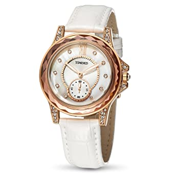 Time100 W80127L.03A 2017 Reloj Vermiel Rosa Moderno Básico de Pulsera para Mujer: Amazon.es: Relojes