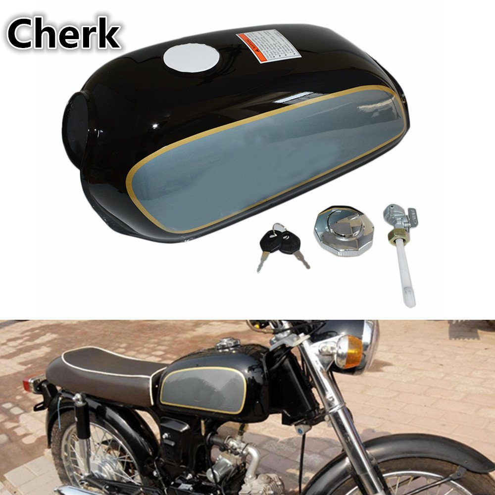 Motorcycle Black Vintage Gas Fuel Tank Oil Box For Suzuki Gn250 Cafe Racer Kit Gn 250 All Year Automotive