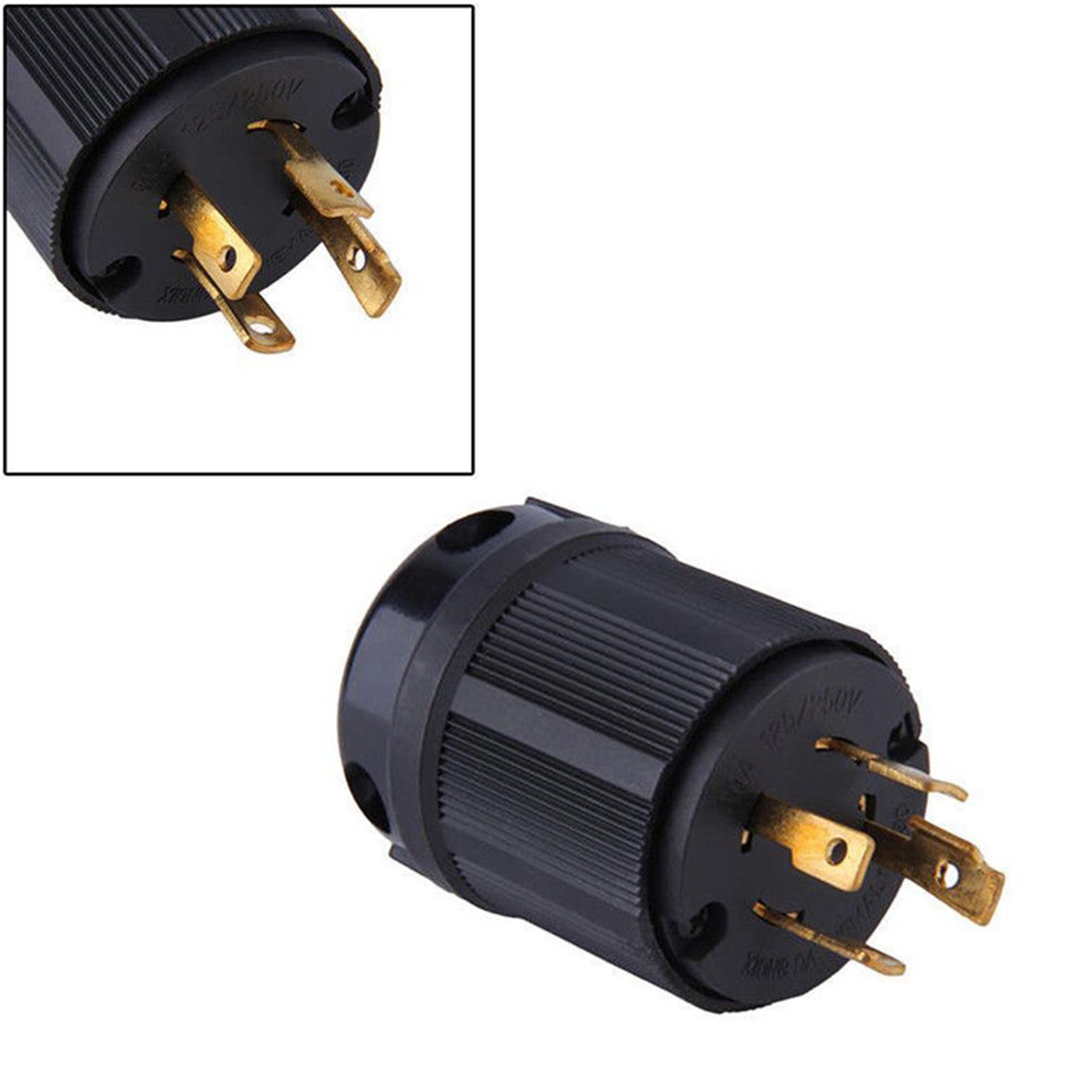 Toyofmine MALE L14-30P 220 POWER CORD END 4-PRONG TWIST LOCK GENERATOR PLUG 30A 125/250V