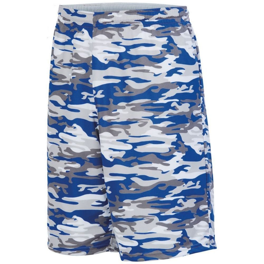 Large Royal MOD//White Augusta Sports Youth Reversible Wicking Short