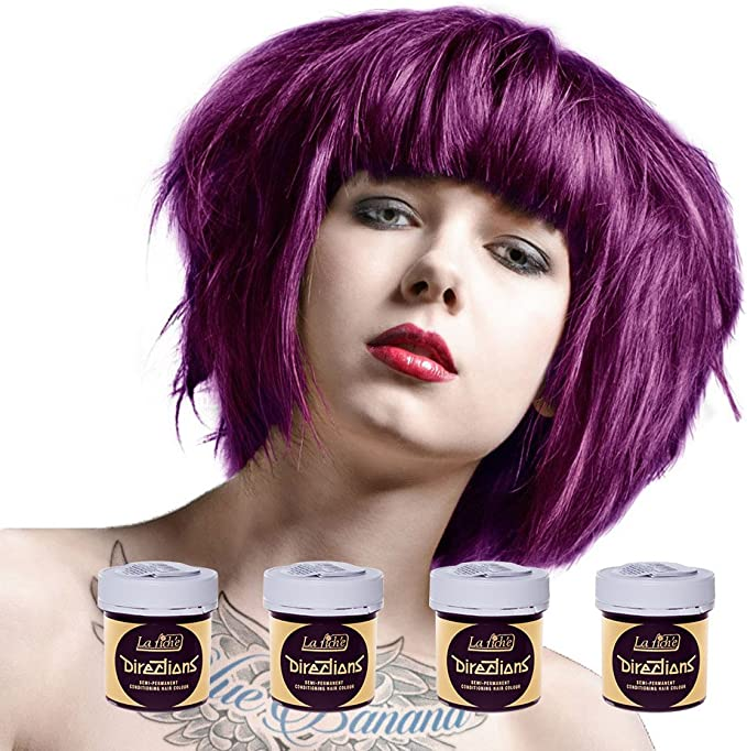 La Riche Direction – Paquete de 4 unidades de tintes semipermanentes de pelo / Color de pelo (4 x 88 ml) – más de 30 colores a elegir