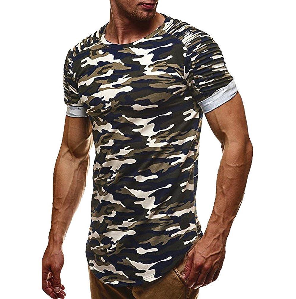 Ketamyy Uomo Tempo Libero Manica Corta T Shirt Camouflage Sezione Sottile Magliette Mimetiche