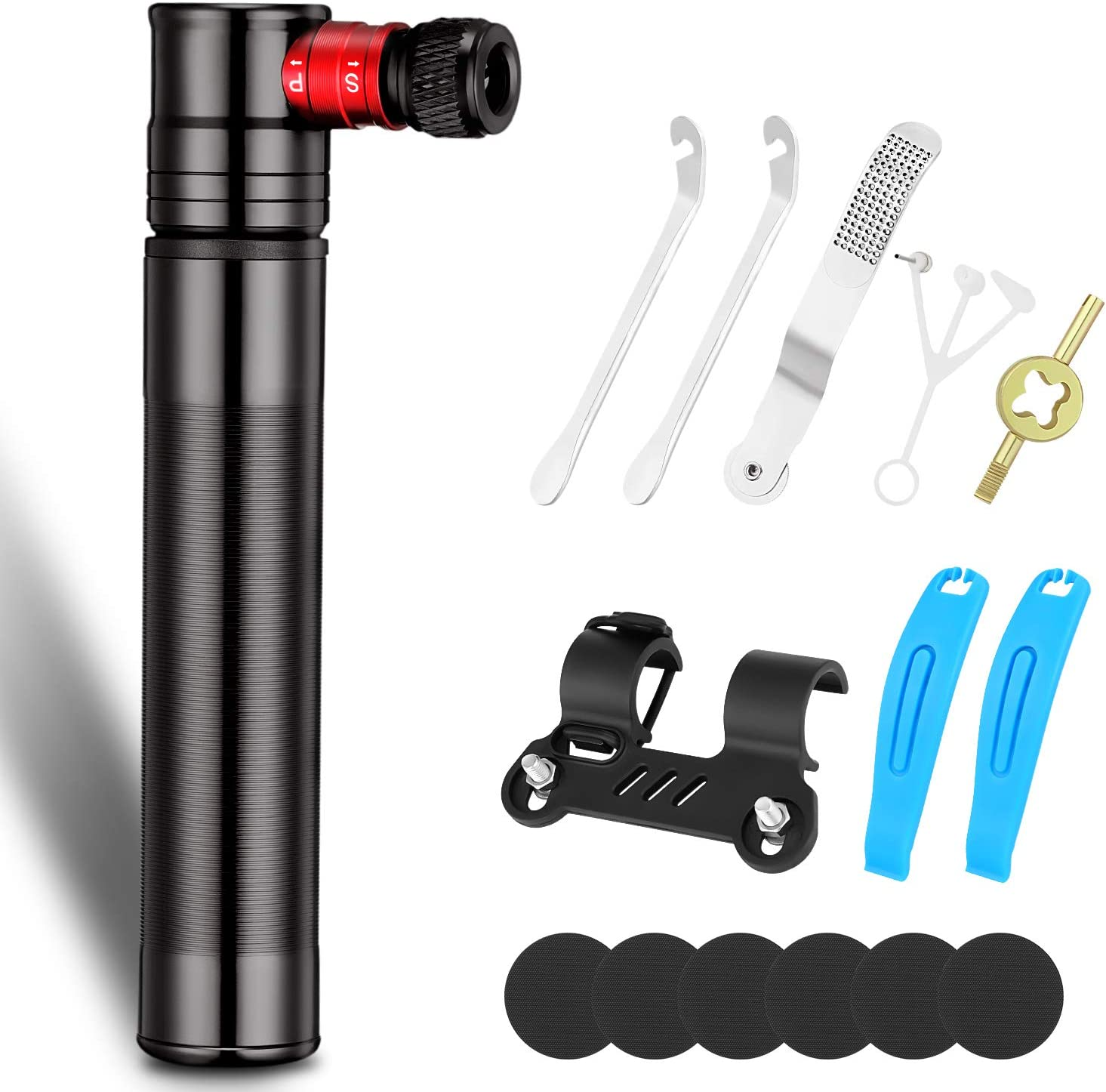 REPAIR KIT BICYCLE 2-WAY MINI BIKE TYRE PUMP