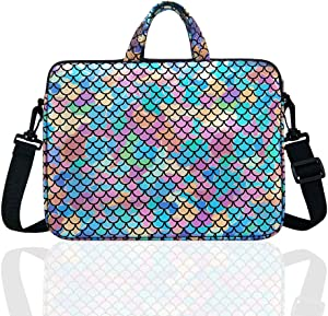"""10.5-Inch Laptop Ipad Shoulder Carrying Bag Case Sleeve for 9.6"""" 9.7"""" 10"""" 10.1"""" 10.5"""" Ipad/Netbook/Tablet/Reader, Mermaid Scale (Colorful)"""
