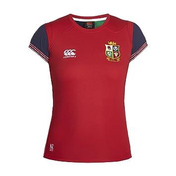 1b0682ef89d British & Irish Lions Women's VapoDri Cotton Training T-Shirt - Tango Red,  ...