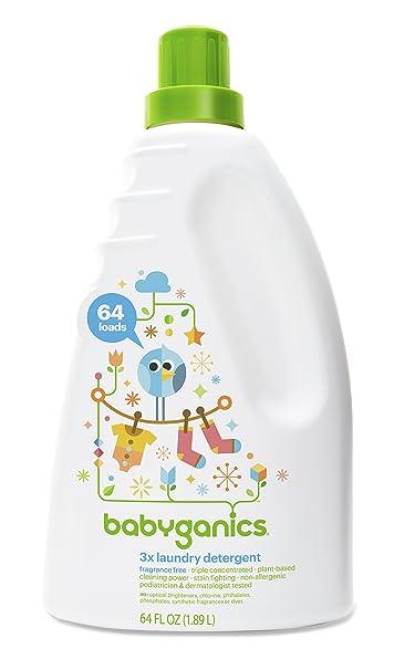 Amazon Com Babyganics 3x Baby Laundry Detergent Fragrance Free