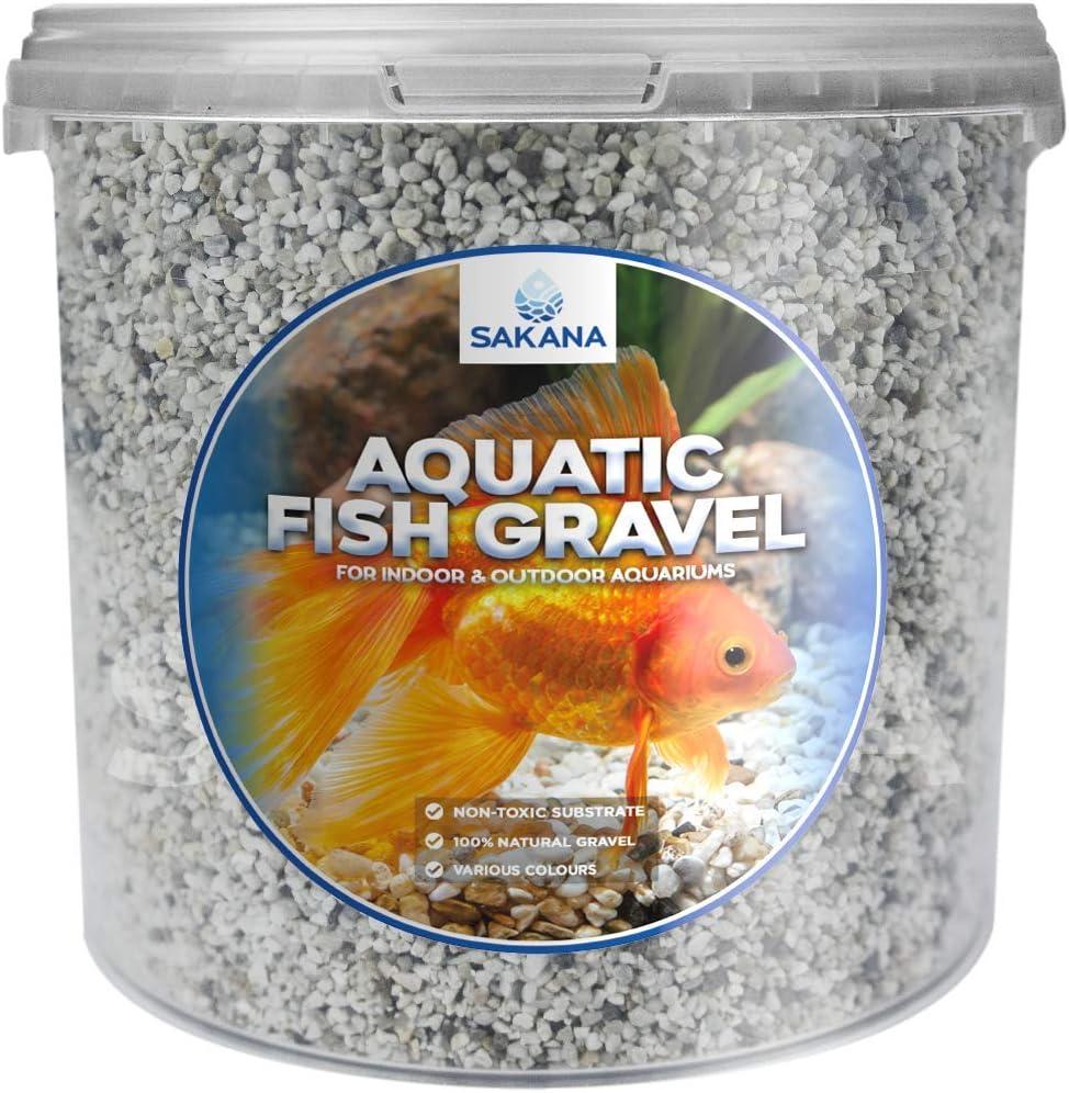 Sakana Natural Nordic Aquatic Fish Gravel Premium Aquarium Pond D/écor Stones 2.5 Litre Tub