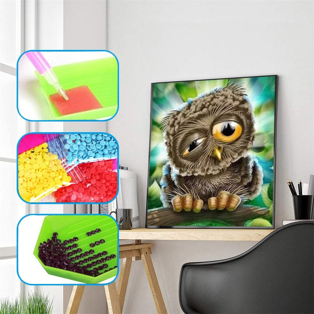 U.Expectating DIY 5D Diamant Painting Voll Stickerei Regalo Arts números Stich Kit hogar decoración Muro Pegatinas - Tierserie: Amazon.es: Juguetes y juegos