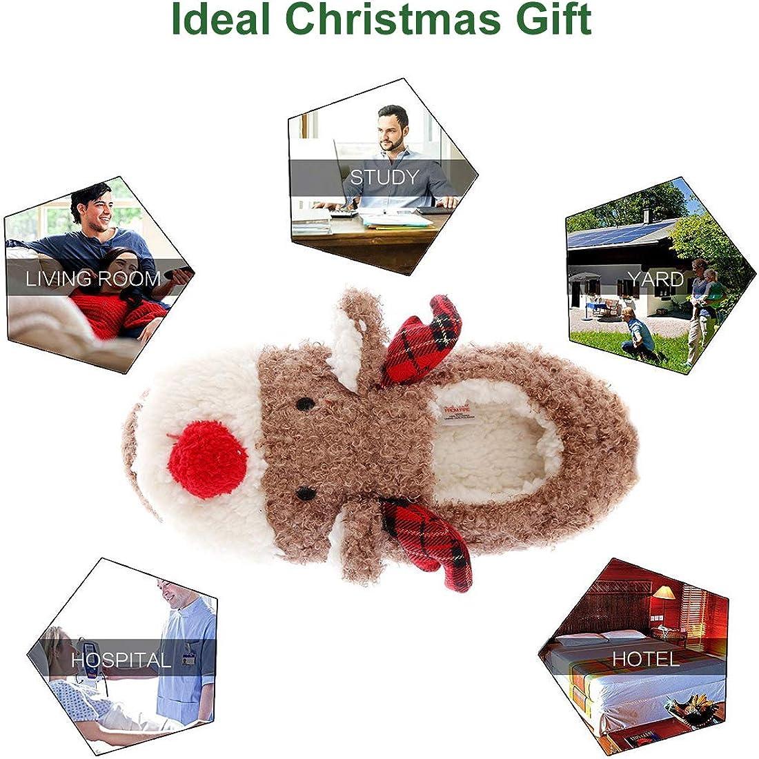 Maamgic Women Santa Slipper Memory Foam Ladies Cute Bedroom perfect x-mas gift