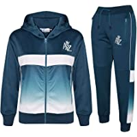Kids Boys Girls Tracksuits A2Z 3D Fade Gradient Hooded Top Bottom Jogging Suits