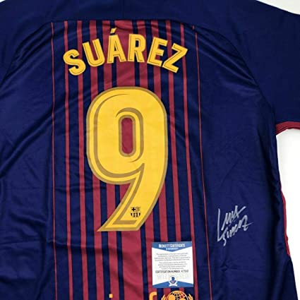 9d06dafff6e Image Unavailable. Image not available for. Color: Luis Suarez Autographed  Jersey ...