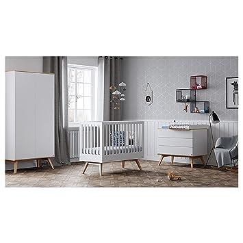 Chambre complète lit bébé 60x120 - commode à langer - armoire 2 ...