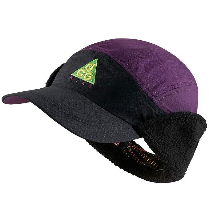 78a59507 Nike Sportswear Tailwind ACG Sherpa Adjustable Hat (Black/Night Purple)
